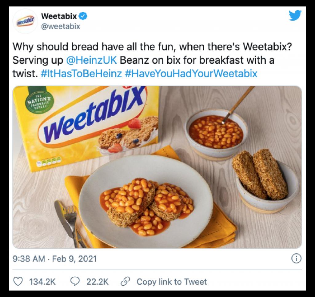 Weetabix and Heinz Beans viral Twitter thread